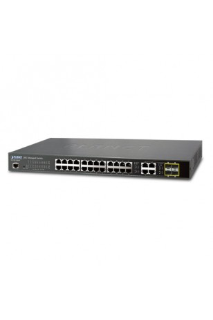 28-Port 10/100/1000Mbps with 4 Shared SFP Managed Switch